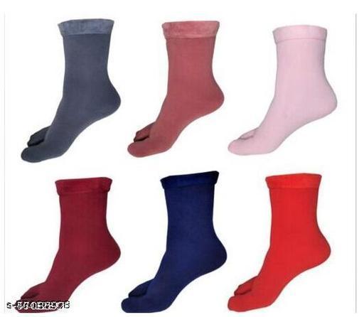 Women-Girls 59 Winter Woolen Full Length Hot Socks( Pack of 6 )