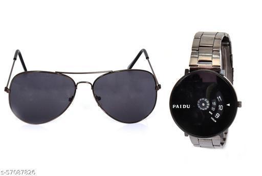 Combo Watch Paidu with sunglasses
