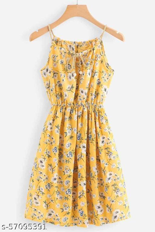 Ritsila Women's Fit And Flare Fancy Short One-Piece Western Dress