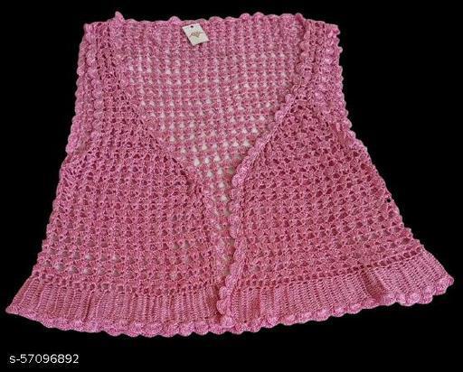 Premium Quality Stylish & Fashionable Western Wear'S Crochet Shrug