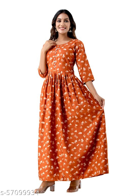 Printed Gown Style Long Kurta