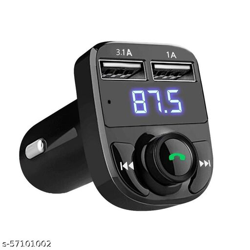 Mistique X8 Hands-Free Wireless Bluetooth FM Transmitter 2.1 A Dual USB Port which Supports TF Card and U Disk Car Charger and Mp3 Music Stereo Adapter Compatible with Android and iOS
