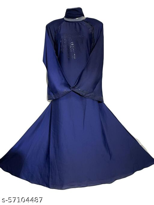 Blue Simple Abaya
