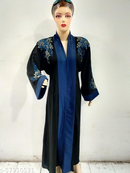 Embroidery  Blue  Abaya