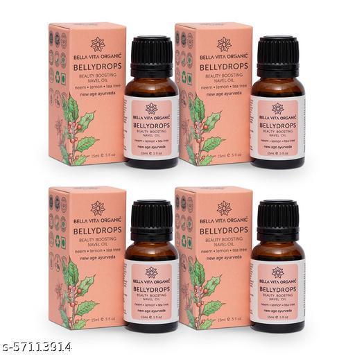 Bella Vita Organic Belly Drops Ayurvedic Navel Oil For Luminous & Healthy Hair - 15 ml (Pack of 4)
