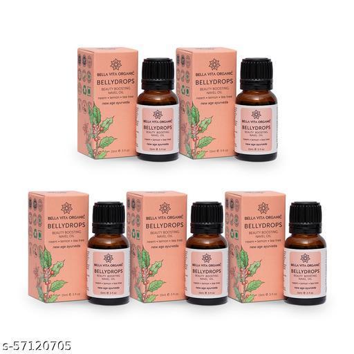 Bella Vita Organic Belly Drops Ayurvedic Navel Oil For Luminous & Healthy Hair - 15 ml (Pack of 5)