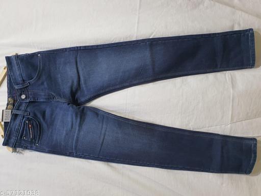 dark blue heavy fabric jeans