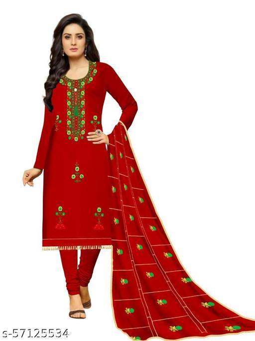 Rangeela Shyam Designer Women's Cotton Un-Stitched Dress Material Embroidery Suit