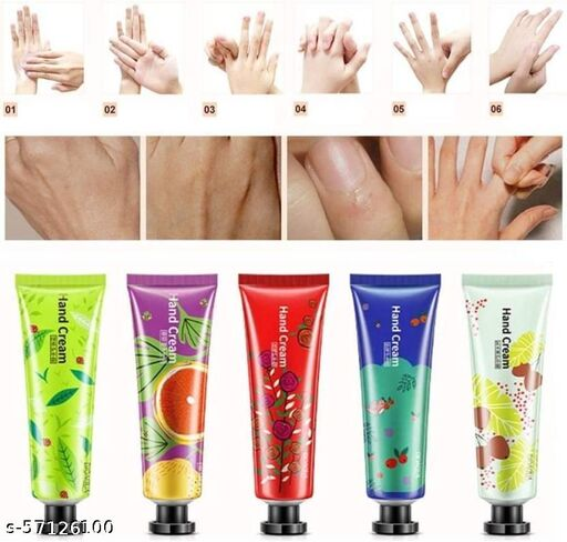 ORIGINAL BIOAQUA hand creams for whitening and Plant Extract Fragrance Moisturizing Nourishing Hand Cream for Men and Women (5PCS SET)