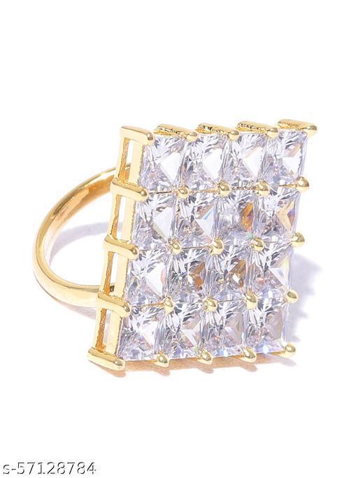 Geometric Shaped American Diamond Ring