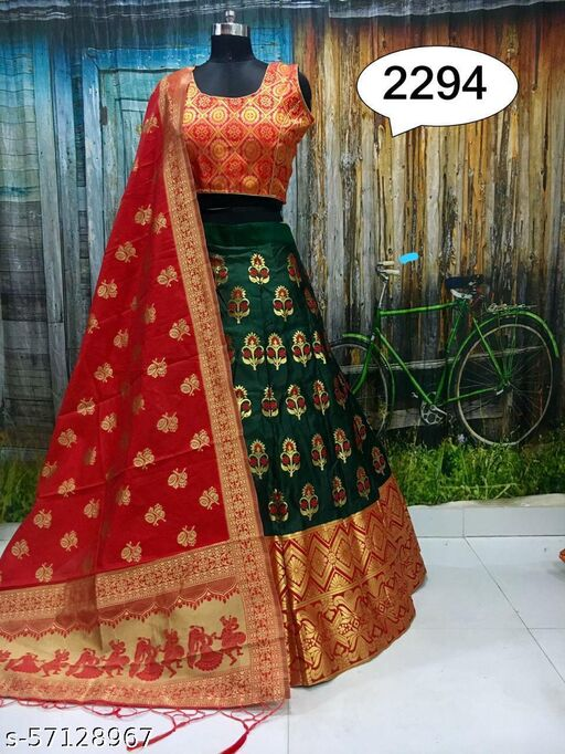lehenga choli for women's -Banarsi lehenga choli with dupatta
