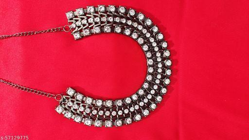 Black polished stone Choker Necklace