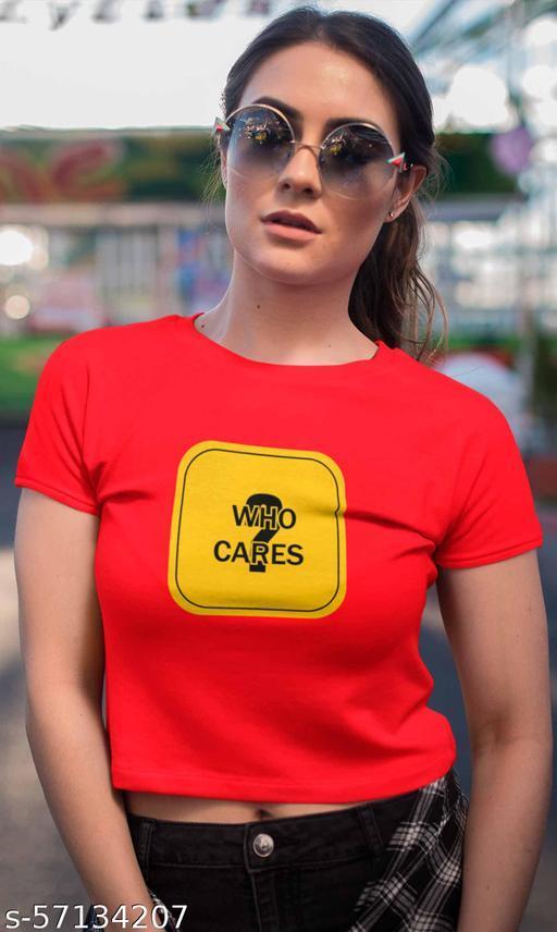Who Cares Women Crop Top