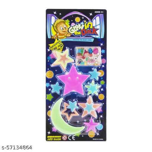 VAIDEHI  Glow in The Dark Radium Stickers (Set of 20; Assorted Theme) Ideal Birthday Return Gifts for Theme for Kids of All Age Group decorative sticker