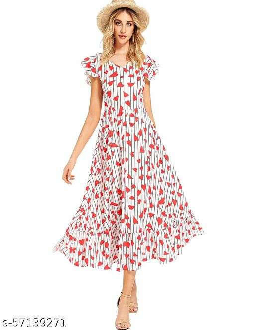 Ritsila Women's Fit And Flare Western Cotton Midi Dress
