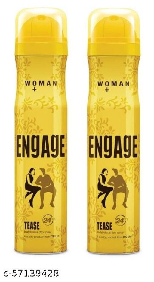 Engage tease Deodorant For Women, Fruity and Floral, Skin Friendly, 300 ml pack of 2