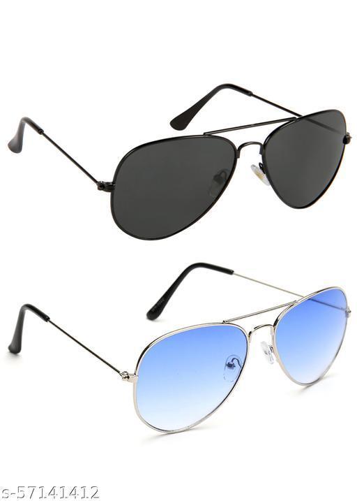 Abster Latest UV Protection Aviator Night Vision Biker Sunglasses 2 Pc Combo For Men, Women, Boys Girls