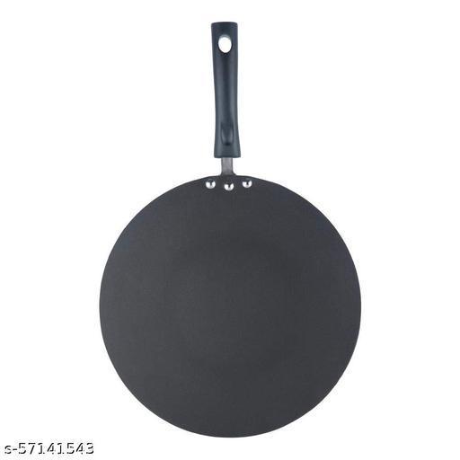 Vinod Zest Non-Stick Aluminum 4 Mm Flat Multi Tawa (Blue/black, 30 Cm)