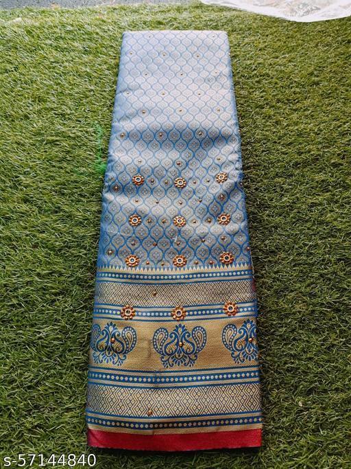 New Zari Butta silk saree with contrast pallu Zari Border