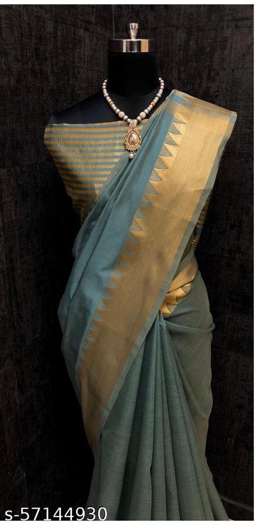 Women's Banarasi Katan Silk Saree With Blouse Piece