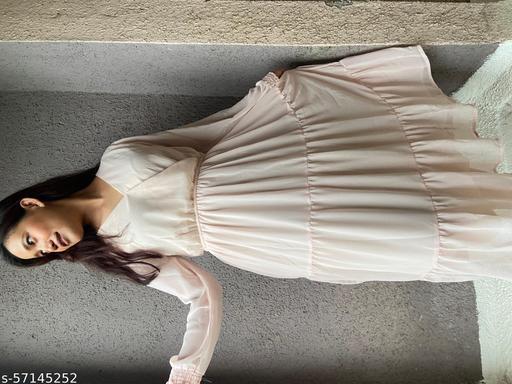 Flare Georette Dress