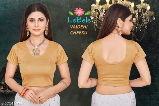 BRIGHT LYCRA COTTON DOBBY WEAVED (PLEASE ZOOM THE PICTURE)  STRETCHABLE STITCHED  BLOUSE  (FULL WASHABLE GUARANTEED)