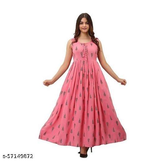 LF PINK ANARKALI  Gowns