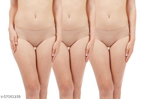 Women's Tag Free Cotton Brief Panties (Regular & Plus Size)
