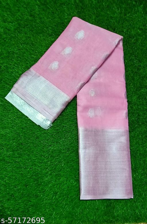 stylish silver tissue saree