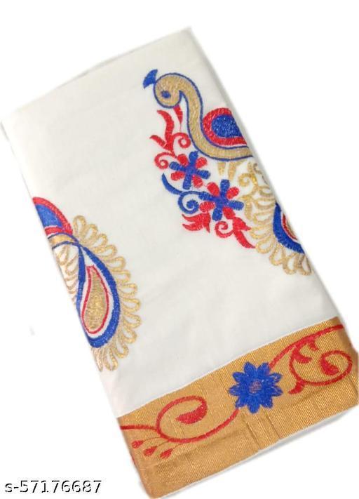 SRI MADHAVAN TEX Kerala peacock design pallu work saree with running blouse.