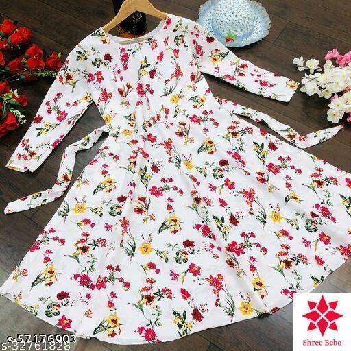 Crape Printed Dress