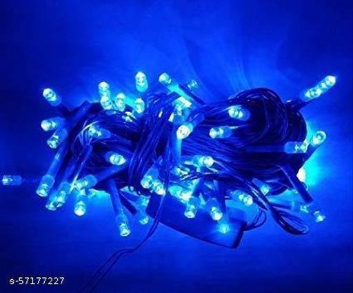 Tradehood (Pack of 1)(15 Meter) Powered Copper Wire LED Rice Light for Decoration Diwali Still Led Ladi String Light Jhalar for Home Décor, Diwali, Christmas Tree, Festival Decoration Lights (Blue)