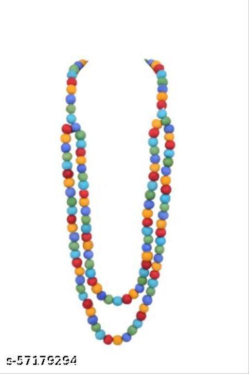 Felt Ball Fancy Woolen Necklace Jewellery Womens Gilrs Style Small Ball Jewellery Rainbow Color Small Ball