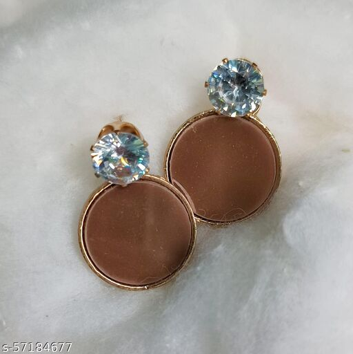 beautiful earrings with stone