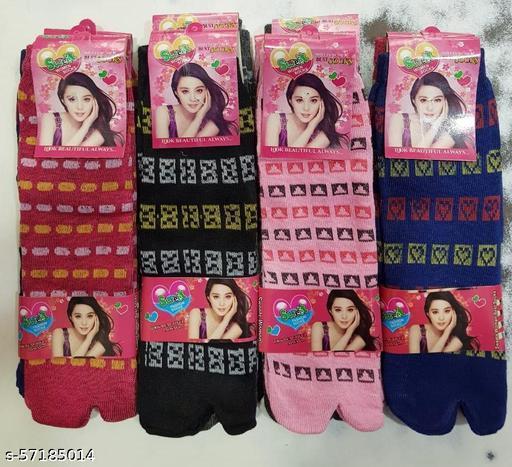Very Comfortable Ladies Angootha Socks (Pack Of 10)