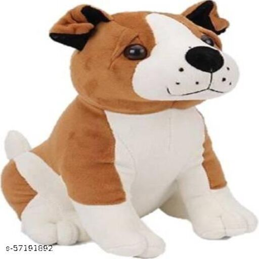 High Quality Brown Bull Dog Plush Toy For Kids, Gift & Decoration (teddy bear) - 25 cm  (Multi color) Soft Toys