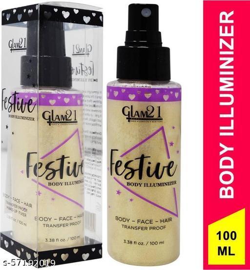 glam21 Festive Body Illuminizer Makeup Fixer, MF005, 100mlSuperior Ultimate Setting Spray
