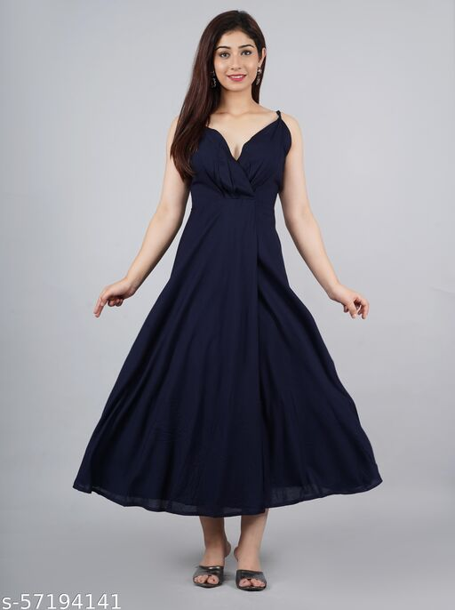 Rayon Gown Dress