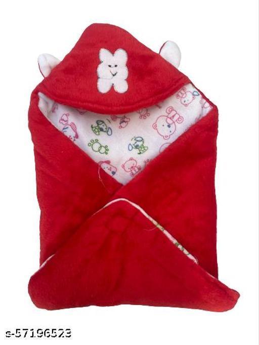 super soft red  baby blanket