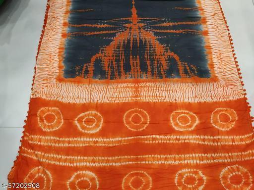 Pure cotton molmol saree with shibori design & attached blouse piece