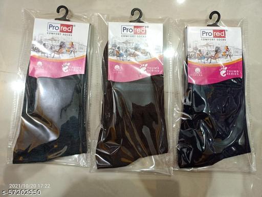 3 Pic Ladies Socks Cotton Haf Size