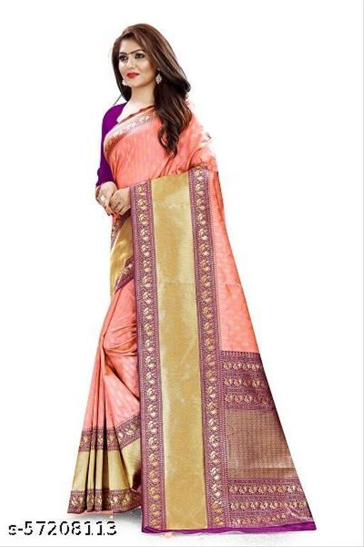 tinuscart Woven Rajkot Jacquard, Cotton Silk Saree