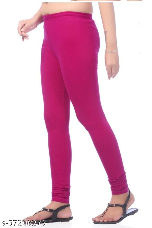 Cm Collection Churidar four way (4 way) strecheble daily wear pure cotton lycra fabric comfortable laira (Pink)