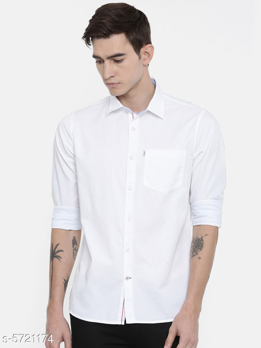 Shirts  Attractive Men's Shirt  *Fabric* Cotton  *Sleeve Length* Long Sleeves  *Pattern* Solid  *Multipack* 1  *Sizes*   *XL (Chest Size* 44 in, Length Size  *L (Chest Size* 42 in, Length Size  *M (Chest Size* 40 in, Length Size  *XXL (Chest Size* 46 in, Length Size  *Sizes Available* M, L, XL, XXL *    Catalog Name:  Attractive Men's Shirts Vol 1 CatalogID_859269 C70-SC1206 Code: 816-5721174-
