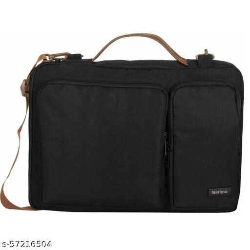 Laptop Shoulder Messenger Sling Office Bag, Water Repellent Fabric for Men and Women