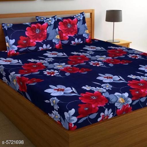 Comfy Stylish PolyCotton 90 x 90  Double Bedsheet