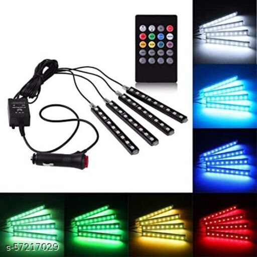 Car Atmosphere multicolour remote control light with 7 different colours Car Lighting