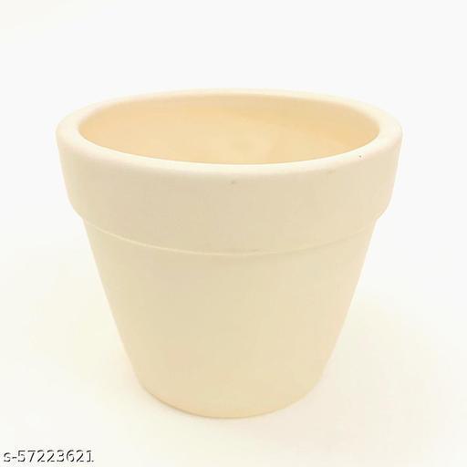 Unique Flower Pots Ceramic Bonsai pot White Matte Gamla 4inch x 4inch