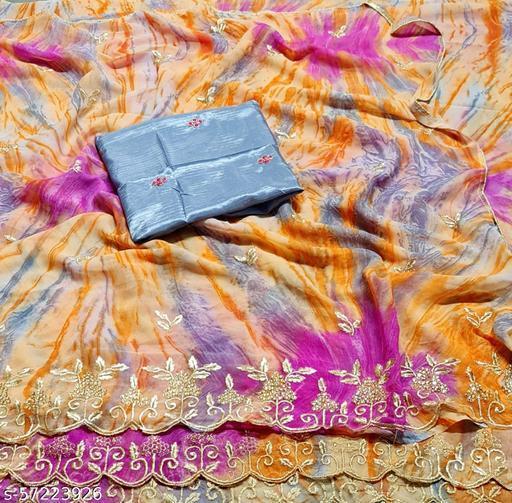 Fancy Cutwork party and wedding wear saree