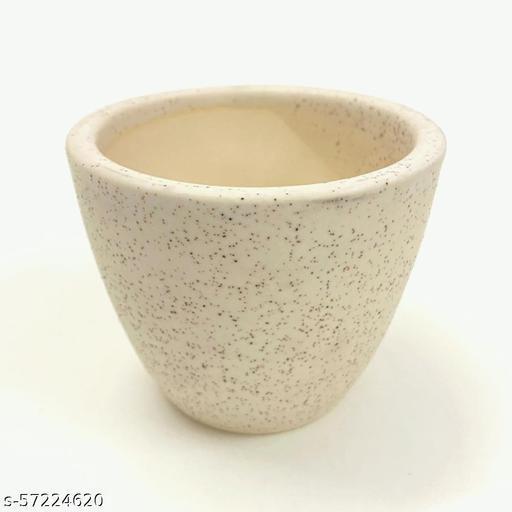 Ceramic Bonsai pot Beige Matte 3.5inch x 3inch Flower Pots